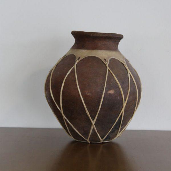 Olla de barro tarahumara grande