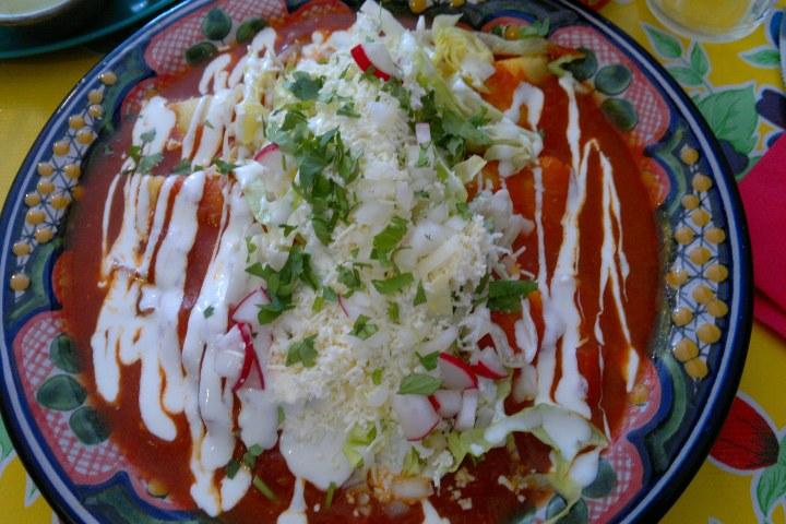 Enchiladas potosinas. Foto: Chiva Congelado